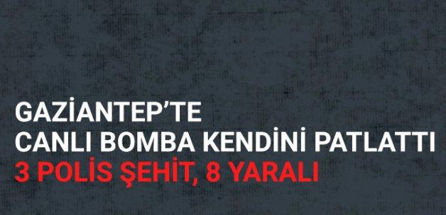 Son Dakika! Gaziantep'teki Operasyonda Canlı Bomba Kendini Patlattı! 3 Polis Şehit