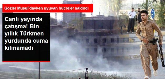 Son Dakika! Kerkük'teki Cuma Kılınamadı, Çatışmalar Canlı Yayına Yansıdı