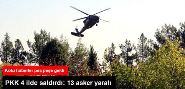 Son Dakika! PKK 4 İlde Saldırdı: 13 Yaralı