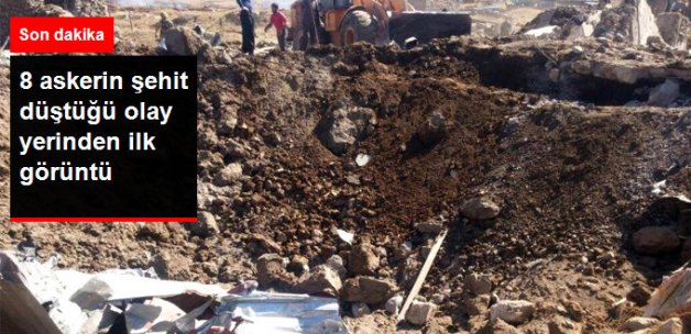 Son Dakika! Şemdinli'de 8 Askerin Şehit Düştüğü Olay Yerinden İlk Görüntü