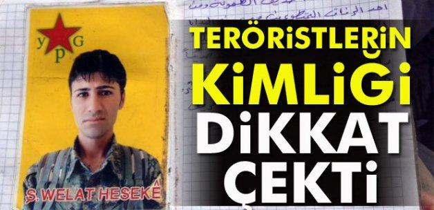 Teröristlerin kimliği dikkat çekti