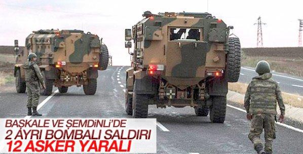 Van Başkale ve Şemdinli'de 12 asker yaralandı