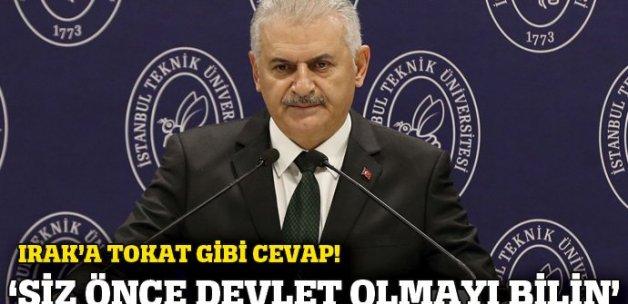 Yıldırım: 'Önce siz devlet olmayı bilin, sonra Türkiye'ye laf edin'