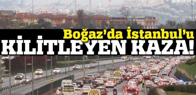 15 Temmuz Köprüsü'nde kaza, trafik kilit!