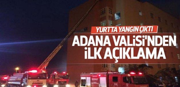 Adana'da kız öğrenci yurdunda yangın çıktı!