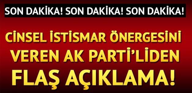 AK Parti'den flaş cinsel istismar tasarısı açıklaması
