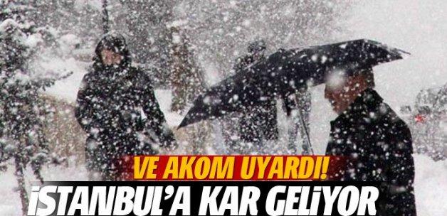 AKOM: İstanbul'da gece sulu kar bekleniyor