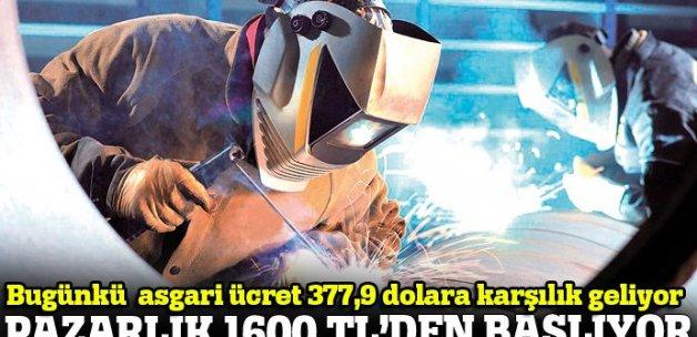 Asgari ücrette pazarlık 1600 TL'den başlıyor