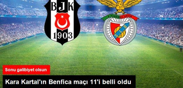 Beşiktaş-Benfica Maçının İlk 11'leri Belli Oldu
