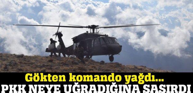 Bitlis Sehi Ormanları bölgesine gökten komando yağdı!