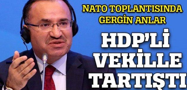 Bozdağ HDP'lileri topa tutarken HDP'li vekil tepki gösterdi