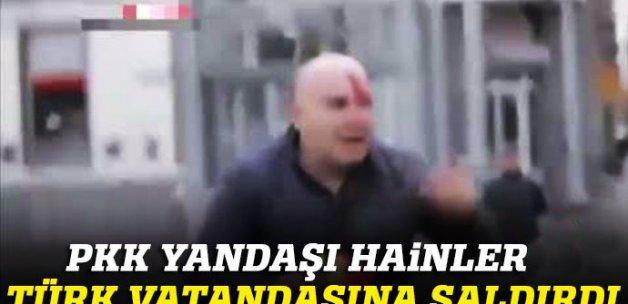 Brüksel'de PKK yandaşı hainler Türk vatandaşına saldırdı