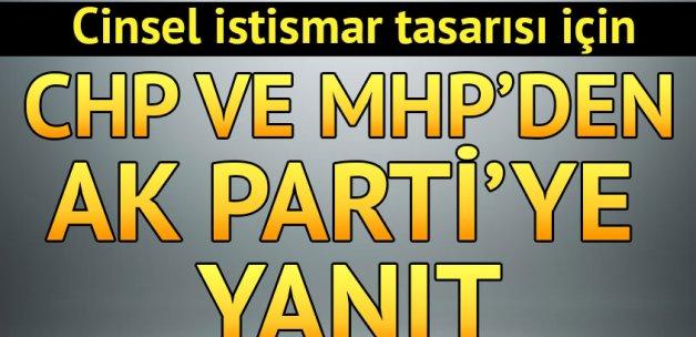 Cinsel istismar tasarısı için CHP ve MHP'den AK Parti'ye yanıt: Önergeyi geri çekin