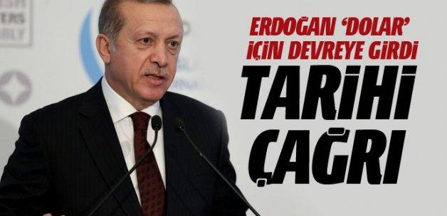 Cumhurbaşkanı Erdoğan 'Dolar' için devreye girdi!