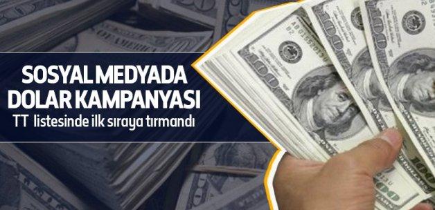 Dolara sosyal medya desteği