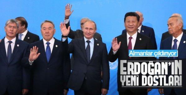 Erdoğan'ın Şangay çıkışı Almanları çıldırttı