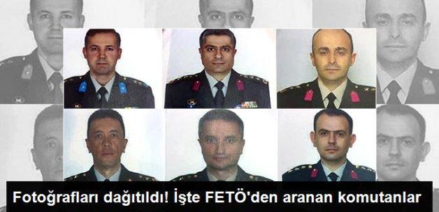 FETÖ'cü 6 Firari Subayın Fotoğrafları Basına Dağıtıldı