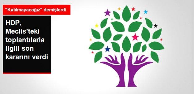 HDP, Parlamentodaki Toplantılara Katılma Kararı Verdi