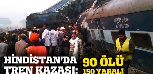 Hindistan'da tren kazası: 90 ölü, 150 yaralı
