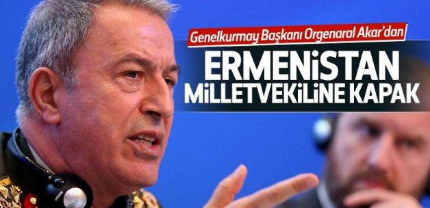 Hulusi Akar'dan Ermenistan milletvekiline kapak