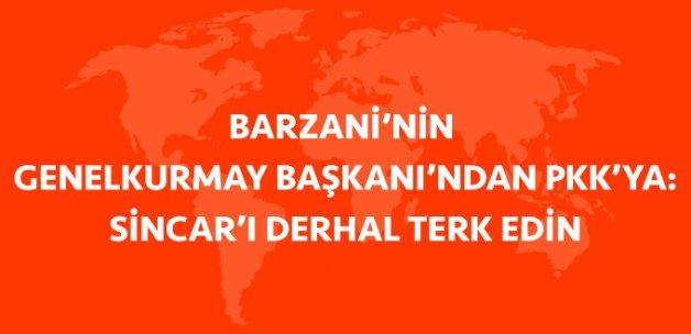 IKBY'den PKK'ya: Sincar'ı Derhal Terk Edin