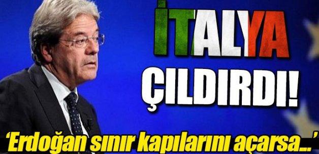 İtalya'dan Erdoğan açıklaması: Sınır kapılarını açarsa...