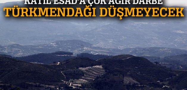 Katil Esad güçlerine Türkmendağı'nda çok ağır darbe