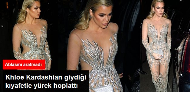Khloe Kardashian Giydiği Kıyafetle Ablası Kim Kardashian'ı Aratmadı
