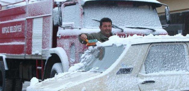 Kırklareli'de kar yağışı başladı (İstanbul kar yağışı)