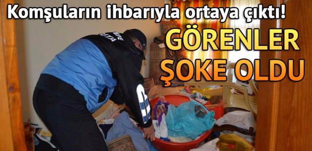 Kocaeli'de bir evden 3 ton 'çöp' çıkarıldı