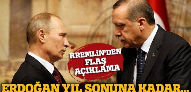 Kremlin: Erdoğan, yıl sonuna kadar Rusya'ya gelmeyecek