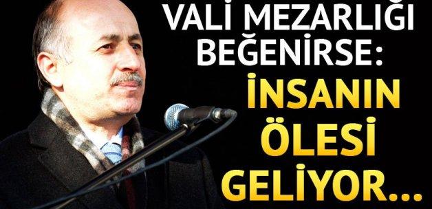 Mezarlığı beğenen Erzurum Valisi: İnsanın ölesi geliyor...