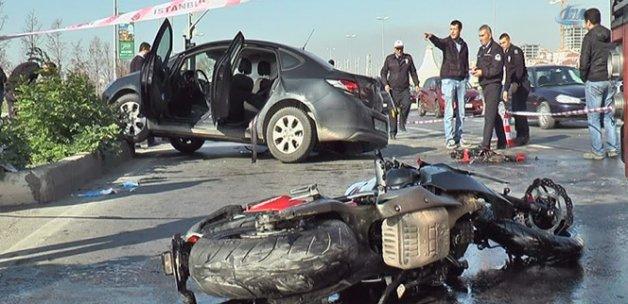 Motosiklet, hatalı dönüş yapan otomobile çarptı: 1 ölü, 3 yaralı