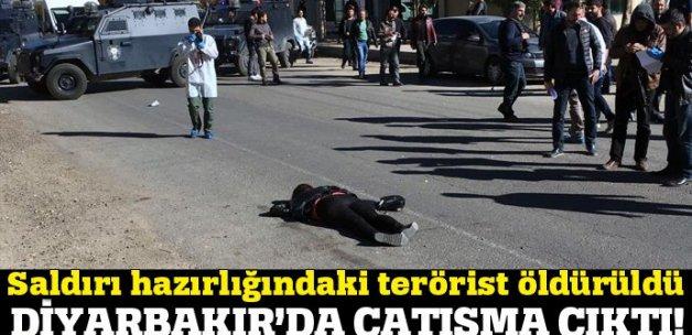 Diyarbakır'da çatışma çıktı, kadın terörist öldürüldü