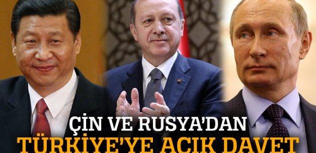 Rusya ve Çin'den Türkiye'ye açık davet