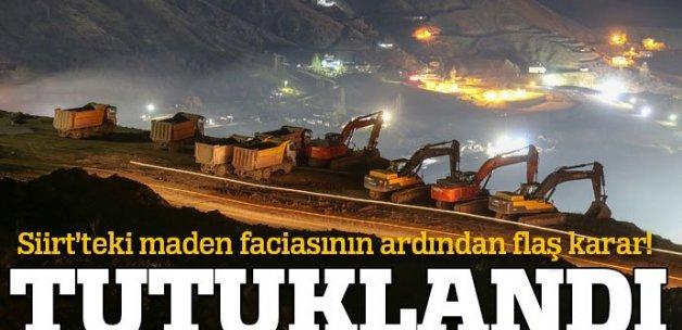Siirt'te göçük yaşanan maden ocağının işletme müdürü tutuklandı