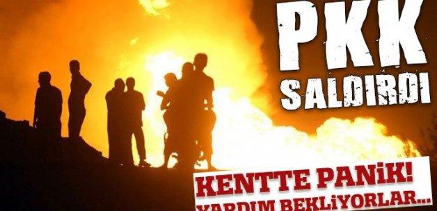 Siirt'te teröristler doğalgaz boru hattına saldırdı