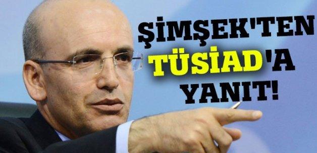 Şimşek'ten TÜSİAD'a yanıt