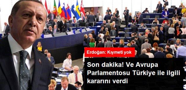 """Son Dakika! AP'deki Oylamadan """"Türkiye ile Müzakereler de"""