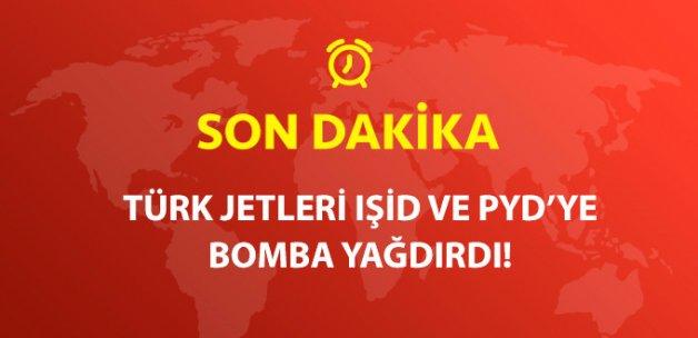 Suriye'de IŞİD ve PYD/PKK'ya Ait Hedefler Hava Harekatıyla İmha Edildi