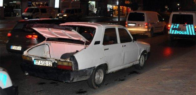 Trafikten men edilen araç, polisi alarma geçirdi