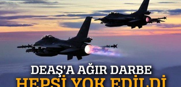 Türk jetleri, 4 DEAŞ karargahını imha etti