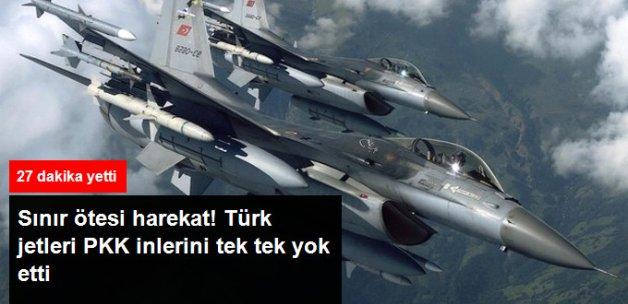 Türk Jetlerinden Sınır Ötesi Harekat! Terör Örgütü PKK'ya Ait Hedefler Yok Edildi