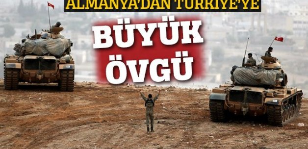 Türkiye'nin DEAŞ'e karşı mücadelesine Almanya'dan övgü