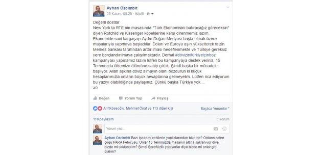 Yazarımızdan Dövizini Türkiye İçin Boz Kampanyası