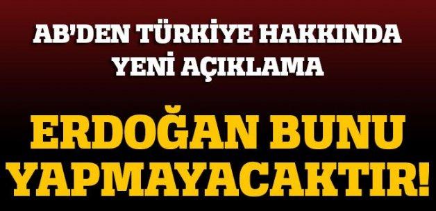AB'den Türkiye hakkında yeni açıklama