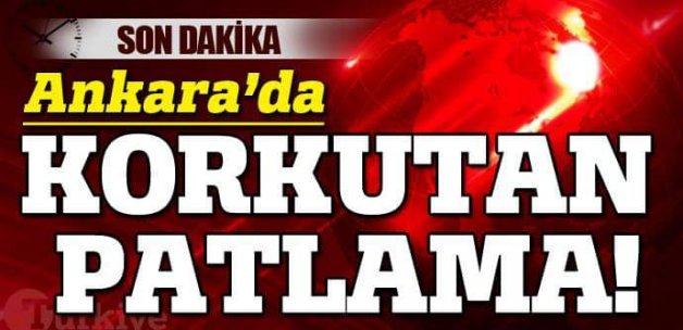Ankara'da korkutan patlama!