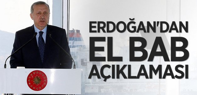 Cumhurbaşkanı Erdoğan'dan El Bab açıklaması