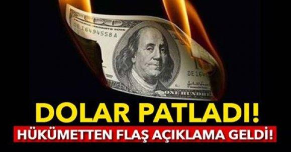 DOLAR PATLADI! HÜKÜMETTEN FLAŞ AÇIKLAMA GELDİ...