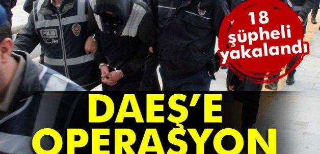 Gaziantep'te DAEŞ operasyonu: 18 şahıs yakalandı